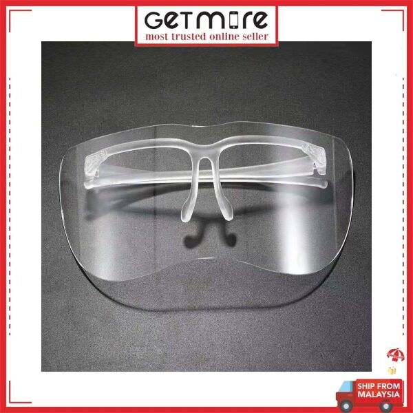 GETMORE Sunglasses Face Sheild Spectacles Transparent Anti-fog and Face Mask Splash Half Face Shield Protector Mask