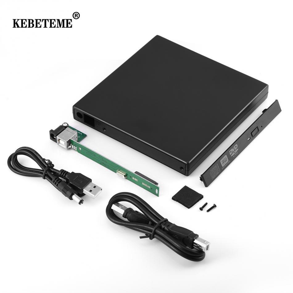Hộp Đựng DVD/CD-ROM KEBETEME 12.7Mm USB 2.0 Bên Ngoài Cho Máy Tính Xách Tay Máy Tính Để Bàn PC Ổ Đĩa Quang SATA Sang SATA Bên Ngoài