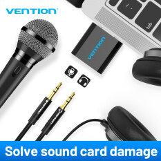 Vention Bộ chuyển đổi thẻ âm thanh nổi USB sang giắc 3.5mm dành cho PC/máy tính xách tay/PS4 – INTL