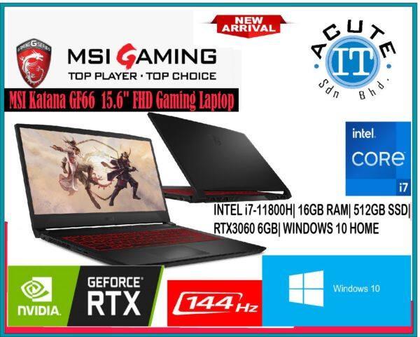 MSI GF66 11UE-278 15.6 FHD 144Hz RTX3060 Gaming Laptop Malaysia