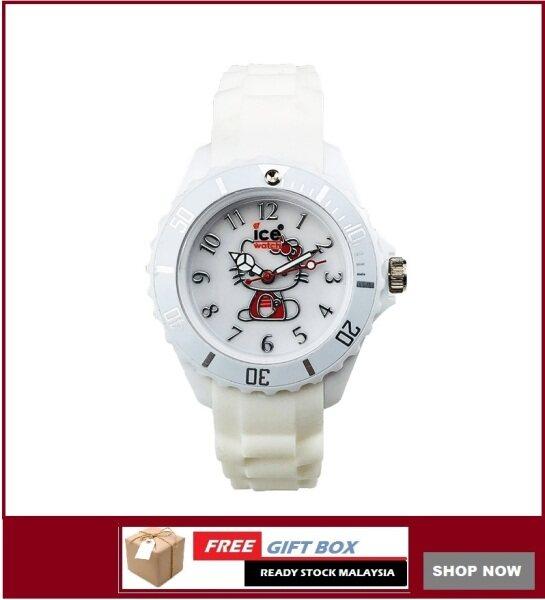 ICE Jam Tangan Kanak-Kanak Kids Girl Hello Kitty White Series Analog Silicon Strap with Light Watches + Watch Box Best Gift for Kids Jam Tangan Malaysia