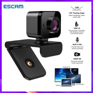 ESCAM Webcam USB C5 1080P HD, Camera Kẹp Máy Tính Xách Tay Máy Tính Hội Nghị Truyền Phát Trực Tiếp, Webcam Cho Pc thumbnail
