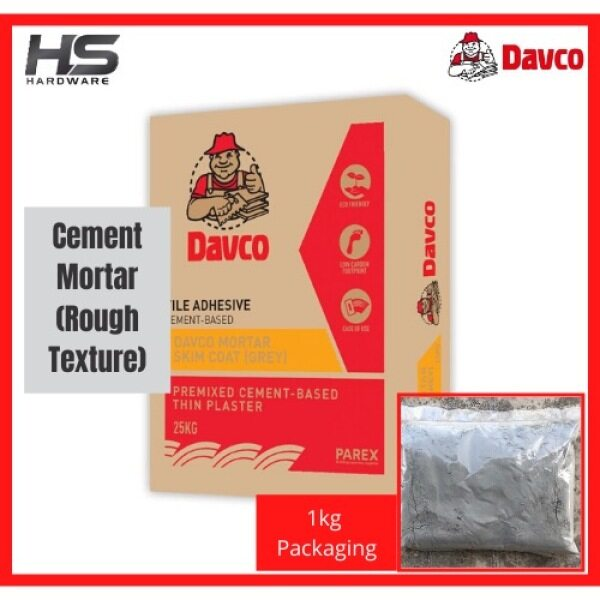 Davco Skim Coat Mortar Cement 1kg for Exterior Use Simen Plaster Kasar