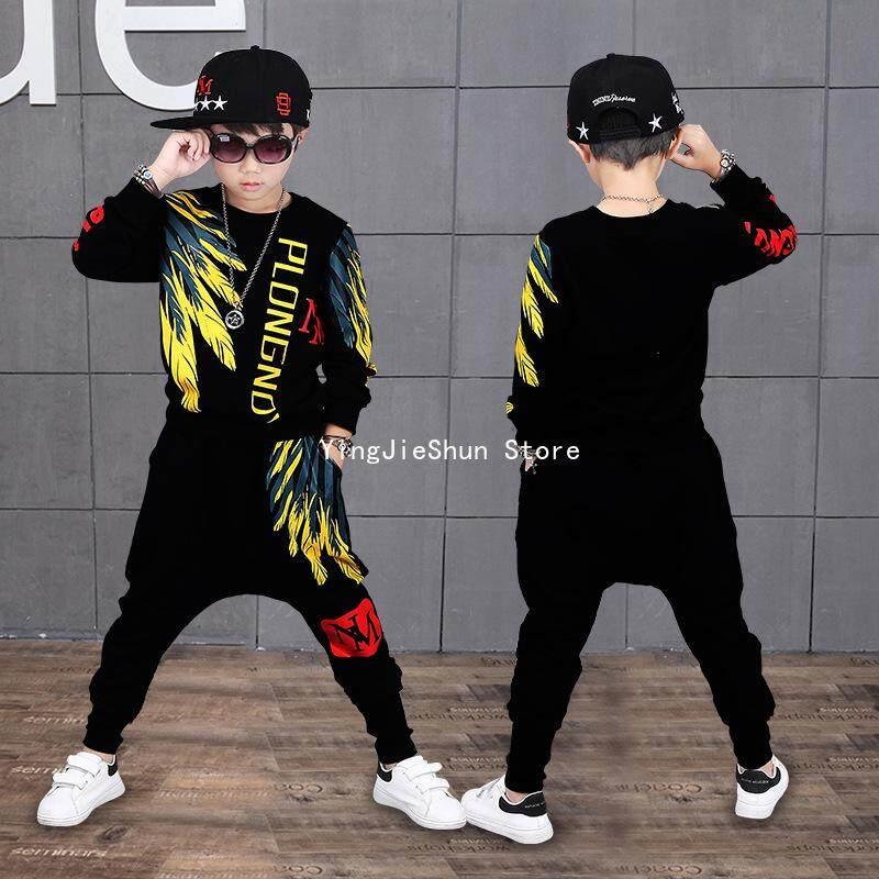 Yjs Mùa Xuân Bé Trai Hip Hop Của Áo Len Hai Dây Phù Hợp Với By Yingjieshun Store.