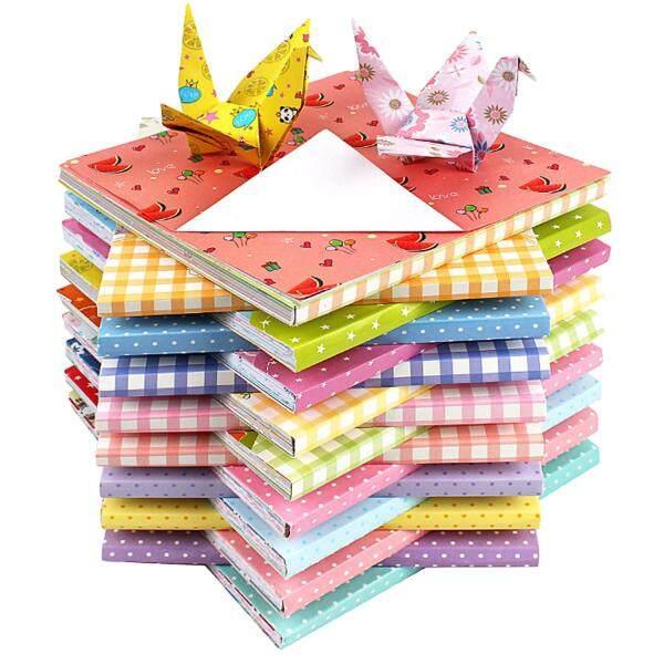 Mua 144 Tờ Vuông 12 Mẫu Họa Tiết Khác Nhau Đơn Màu 2 Mặt Cùng Xếp Giấy Origami Gấp Giấy Thủ Công Nghệ Thuật Giấy cho Trường Mầm Non Trẻ Em trẻ em TỰ LÀM Thủ Công