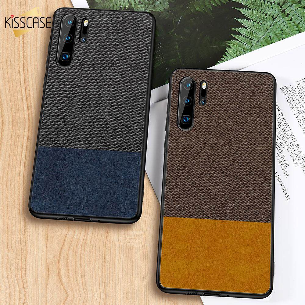 KISSCASE Double Color Cloth Leather Case For Huawei P20 Lite Nova 3i 2i Nova 3 4