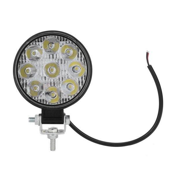 Đèn Làm Việc Mini Tròn 9 Bóng LED 27W Đèn Phụ Trợ Cho Ô Tô Xe Máy Xe Nâng Thuyền