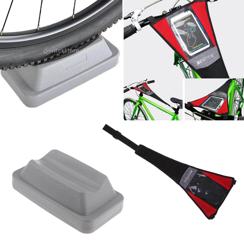 Miracle Shining Bike Trainer Sweat Catcher Net Strap Frame Guard Phone Holder & Wheel Riser By Miracle Shining.