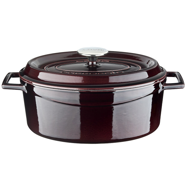 LAVA Oval Cast Iron Dutch Oven with Trendy Lid Singapore
