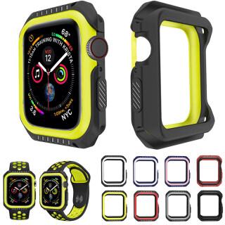 Ốp Giáp Cứng Silicon + PC Cho Apple Watch 4 5 6 SE 40MM 44MM Viền Bảo Vệ Toàn Bộ Điện Thoại Chống Sốc Cho I Watch 3 2 1 38MM 42MM thumbnail