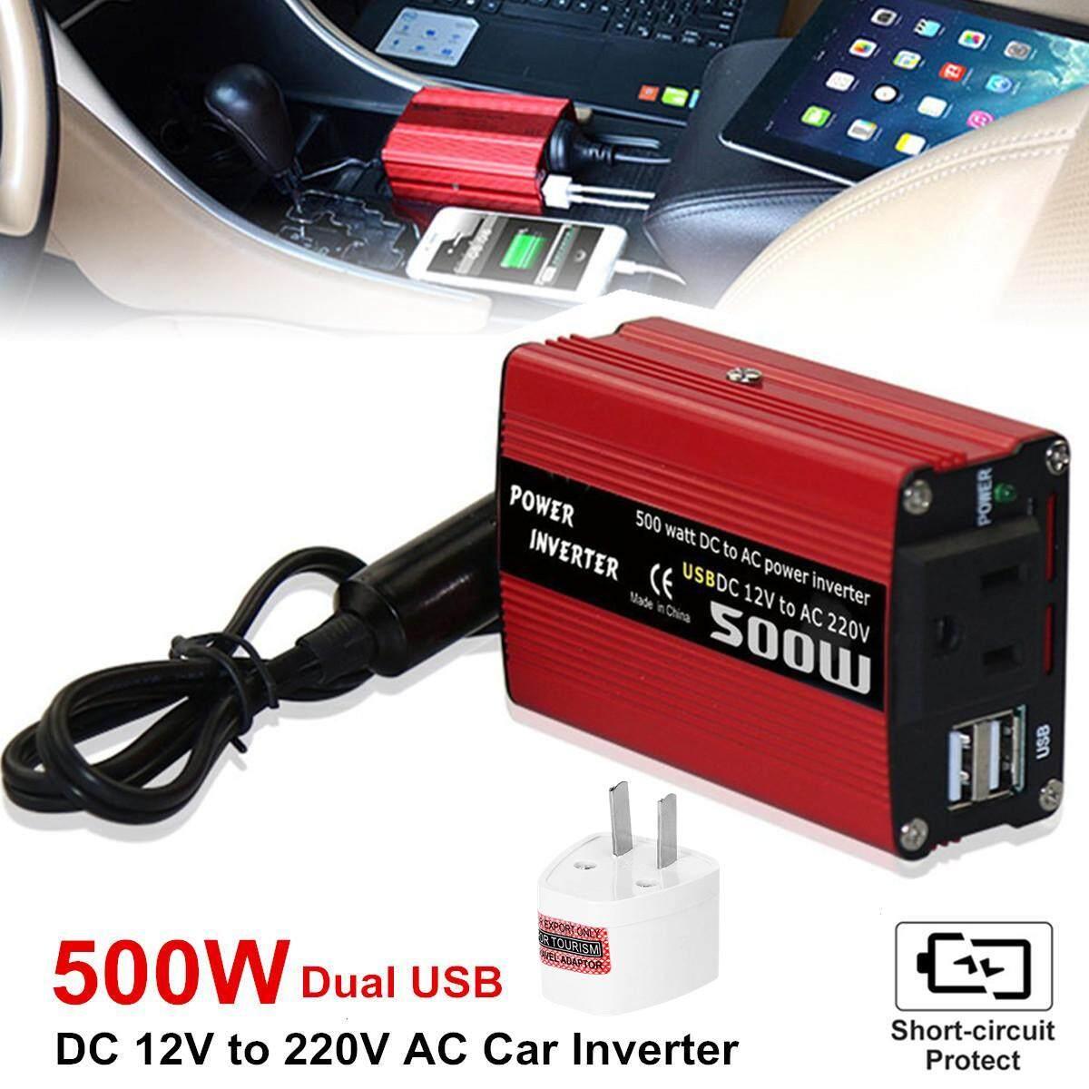 500 W Dc Untuk Konverter Daya Ac Dc 12 V Untuk 220 V Ac Inverter Mobil Dengan Usb Ganda By Gearray.