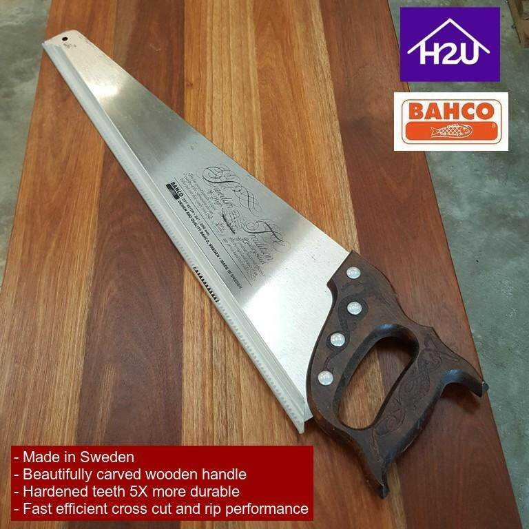 H2U BAHCO 24Inch 600mm Made In Sweden Beautifully Carved Wooden Handle Hand Saw