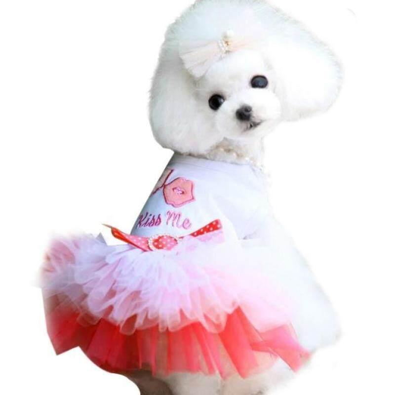 Miễn Phí Vận Chuyển Chó Con Chó Nhỏ Mèo Váy Ren Công Chúa Trang Phục Váy Xòe Trang Phục