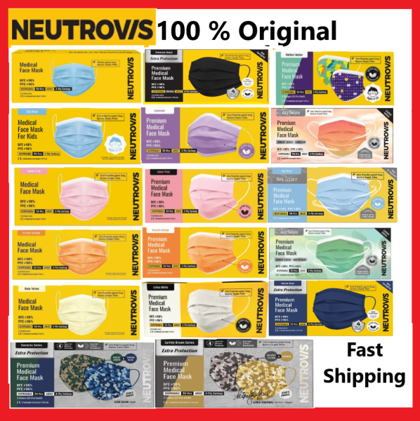 (BOX PACKING) Neutrovis Medical Face Mask 3 Ply / 4ply 50 Pieces - Basic Mask/ Premium Masks