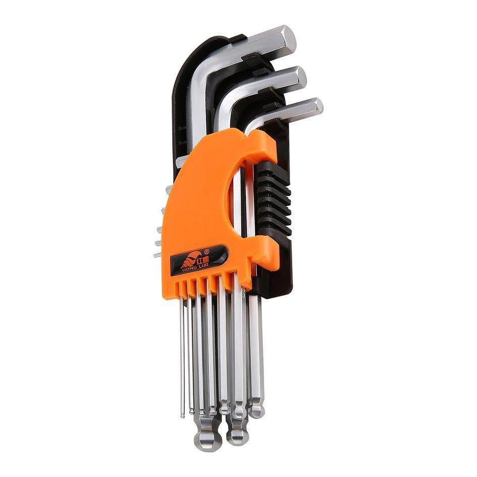 COYEN HONGLUO 9Pcs L Shape Hex Key Set Double Wrench Set Repaire Tools Spanner Set