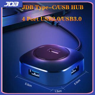 JDB Bộ Chia USB HUB 4 Cổng USB 2.0 USB3.0 Có Cổng Sạc Micro USB Cho iMac Máy Tính Máy Tính Xách Tay Phụ Kiện HUB USB Màu Đen thumbnail