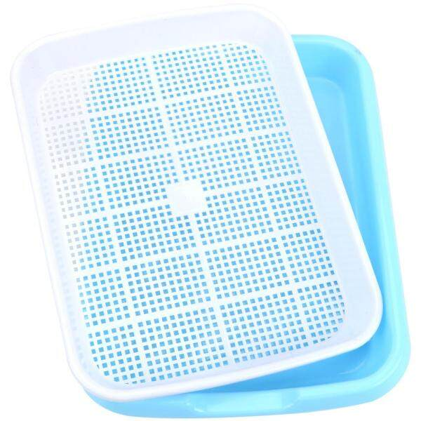 Double Layer Sprout Plate Plastic Nursery Tray Home Garden plant tools Growing Vegetables seedlings 1 set Hydroponics Seedling Tray