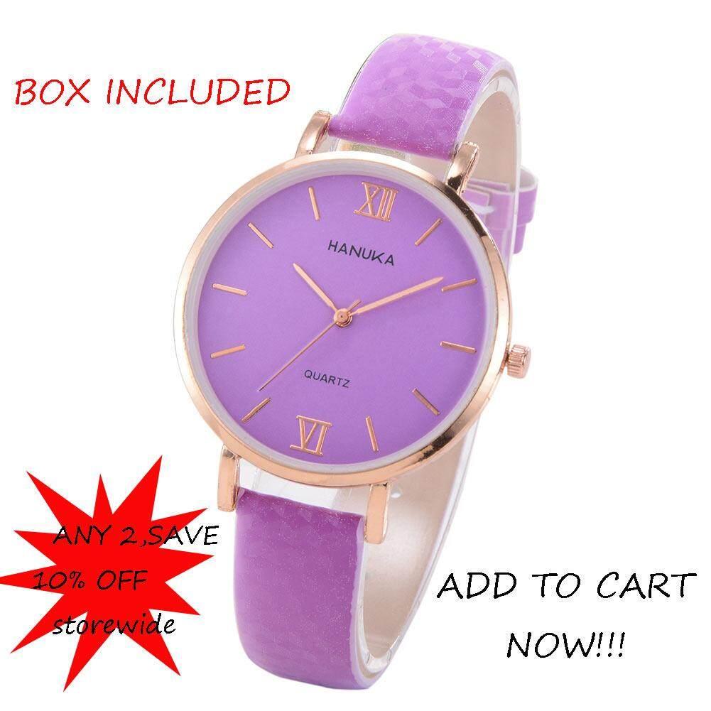 Goodbro เปลี่ยนสีโรมันตัวเลขง่ายนาฬิกาข้อมืออะนาล็อกควอตซ์นาฬิกาสำหรับสุภาพสตรี【】 By Goodbro.