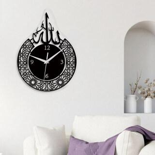 Baoblaze Eid Đồng Hồ Tròn Ramadan Đồng Hồ Treo Tường Thạch Anh Im Lặng Đồng Hồ Treo Tường Tôn Giáo Hồi Giáo Cho Phòng Khách, Trường Học, Phòng Ngủ thumbnail