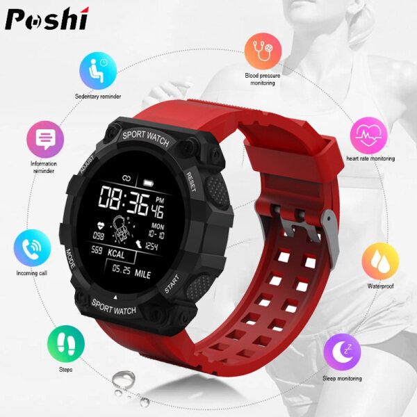 POSHI 2021 New Sport Smart Watch Women Men Heart Rate Monitor Blood Pressure Smartwatch Sport Fitness Tracker Watches for Women Digital Original Waterproof Jam Tangan Pintar Malaysia