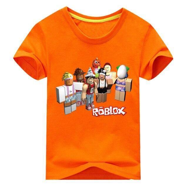 Boys Girls ROBLOX Kids Cartoon Short Sleeve T-shirt Tops Casual Summer Costumes