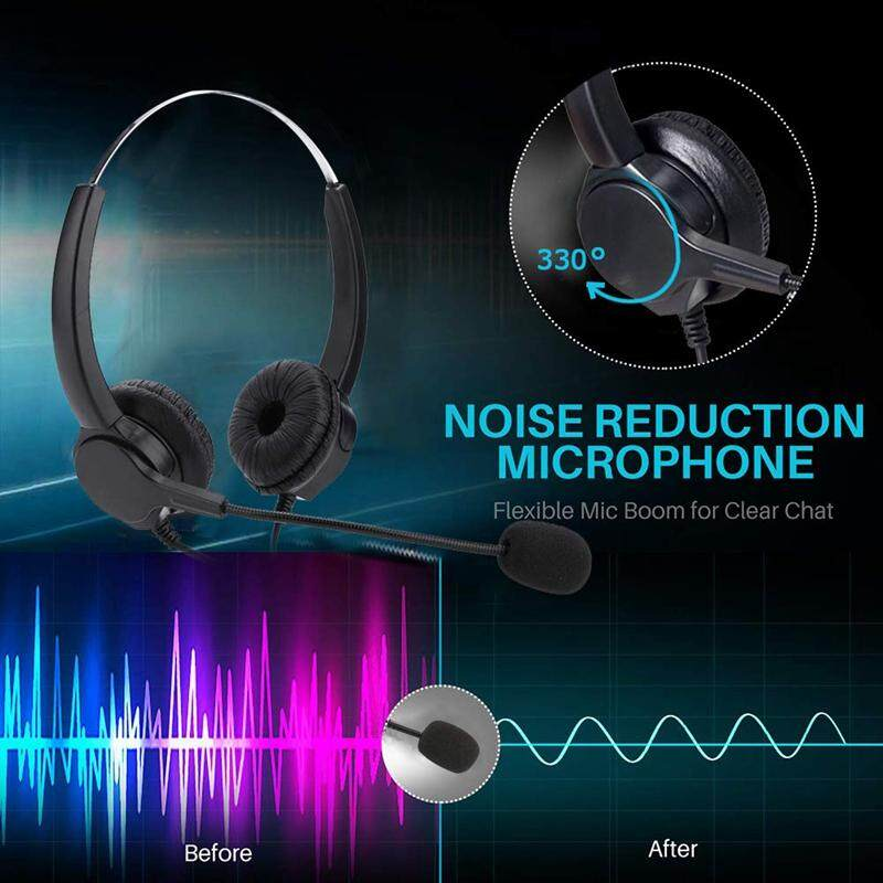 Mute Wired Headset Call Center USB Headset Noise Cancelling USB Call Center Headset with Microphone
