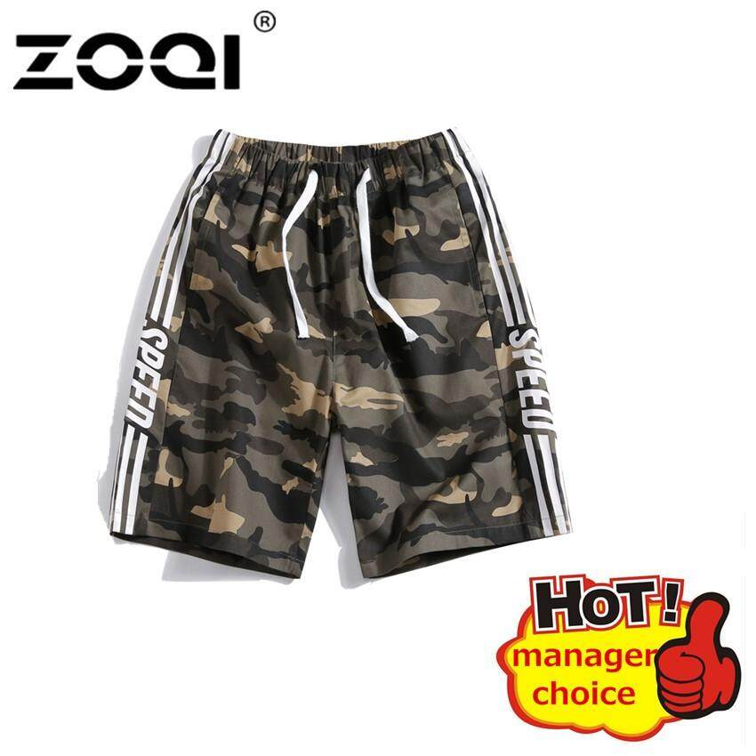 fcdadd4381 ZOQI Shorts Summer Men'S Casual Trend Plus Size Camouflage Five-Cent Pants  Male Breathable Sport