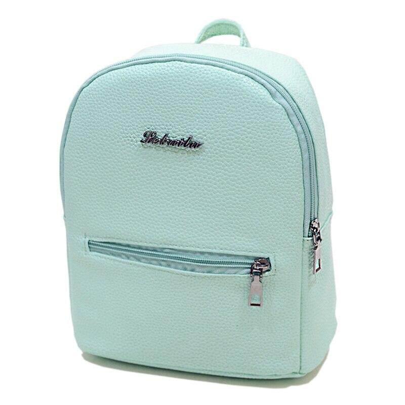c9d161ae044d Women Backpack School Backpacks For Teenage Girls Leather Candy Color Cute  Mini Bagpack