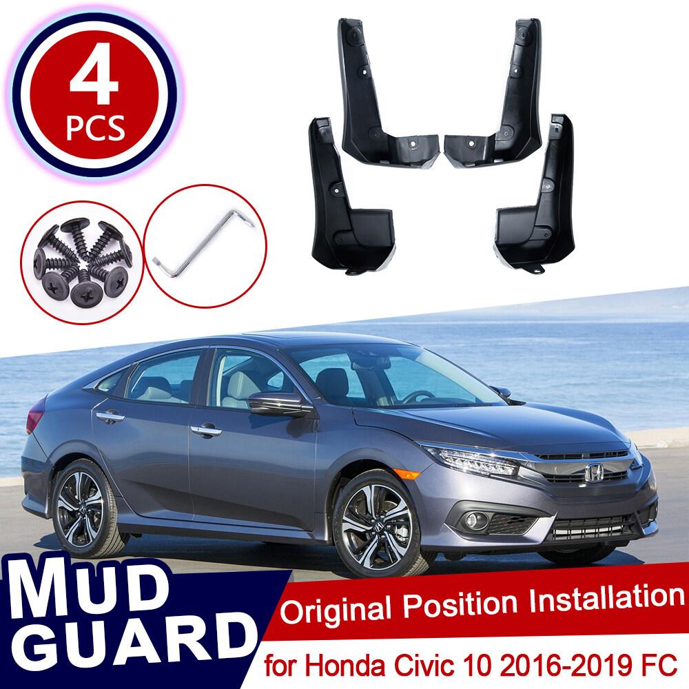 Mudguards Front Rear Mud Flaps for Honda//Civic Sedan 2016 2017 2018 Fender Splash Guards Mudguard Mudflaps Car Accessories