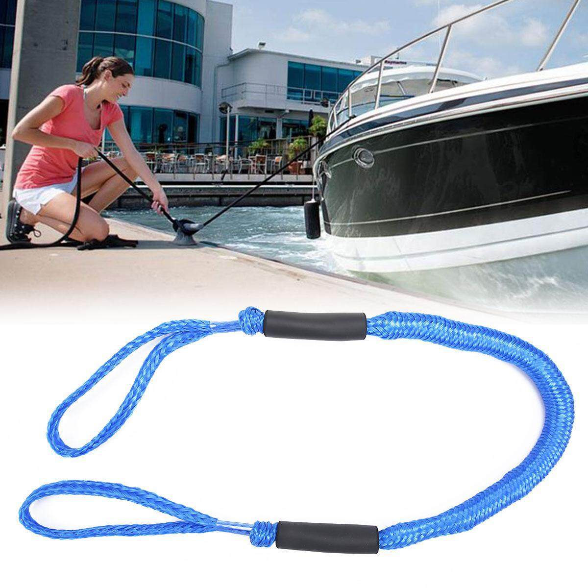 niceEshop Boat Dock Line 5ft, Mooring Rope for Boat with Two Protective Foam Float Stretchable Bungee Cords Line Ideal for Kayak,Jet Ski, PWC, Watercraft, SeaDoo,WaveRunner,Pontoon