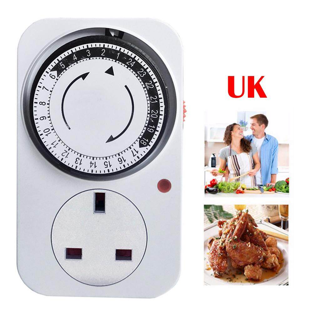 efuture Kitchen electrical machinery 24-hour cycle timer intelligent time setting control switch energy saving socket