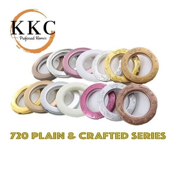 KKC 720 Ring Eyelet Curtain Langsir Plain & Crafted Design Ready Stock from MALAYSIA