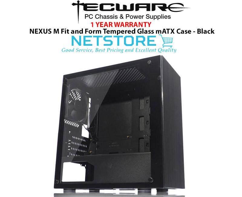 Tecware NEXUS M Fit and Form Tempered Glass mATX Case - Black Malaysia