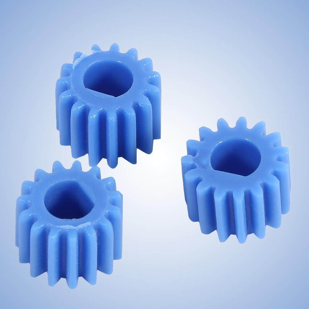 【Flash Promotion】10pcs Plastic D-shaped Shaft Spindle Gear 15 Teeth Blue  Color for Aircraft Car Model