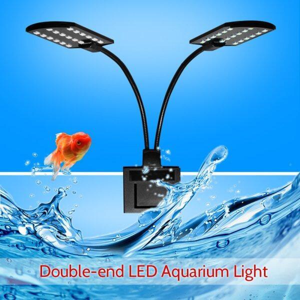 Đèn Hồ Cá Hai Đầu LED AC220V 10W 32, Cá Jar Đèn Góc Chiếu Sáng Uốn Cong Linh Hoạt Trắng Xách Tay Cho Bể Cá