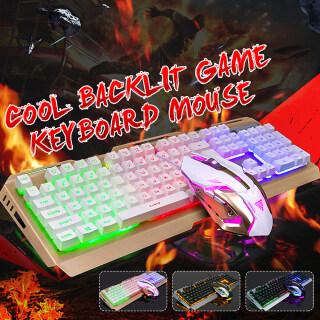 Bộ Bàn Phím Và Chuột Chơi Game Cảm Giác Tay Cơ, USB, Phím 104 Có Dây Đèn Nền LED Cầu Vồng thumbnail