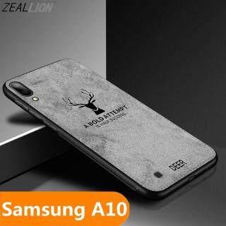 Zeallion, Dành Cho Samsung Galaxy A10 A30 A50 Ốp Lưng Dệt Họa Tiết Nai Sừng Tấm Bằng Vải Bố Mềm Hình Hươu Cổ Điển A70 A90 thumbnail