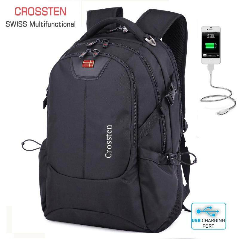 97f5c24d43e Crossten Swiss Multifunctional External USB Charge Port Laptop Bag  Waterproof 16