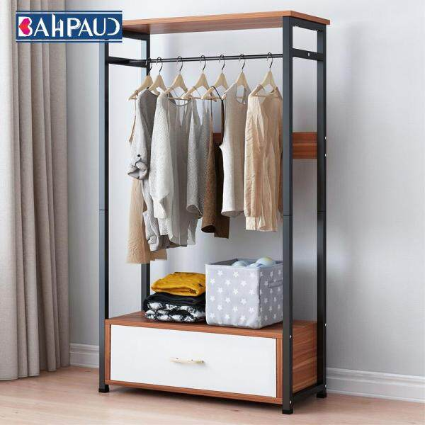 Bahpaud Coat Rack 60x30x140cm Floor Clothes Storage Rack Cabinet Modern Minimalist Rack Simple Assembled Clothes Rack