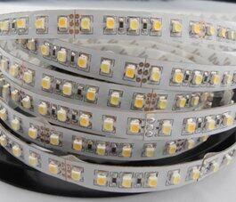 Strip LED SMD3528 Suhu Warna Yang Dapat Disesuaikan, 120 LED/M, 5Meter/Gulung, Input DC12V; Tidak Tahan Air
