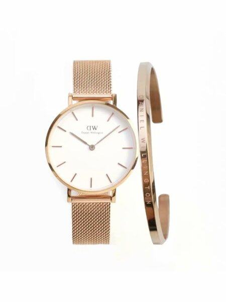 ladies casual watch DW female watch classic petite 28mm Rose Gold + small rose gold bracelet / with a gift box Malaysia