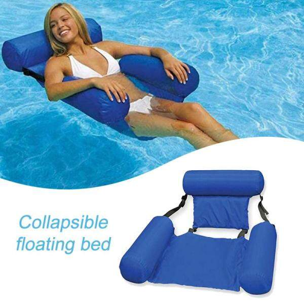 Swimming Floating Chair Foldable Pool Seats Inflatable Water Bed Lounge Chairs U