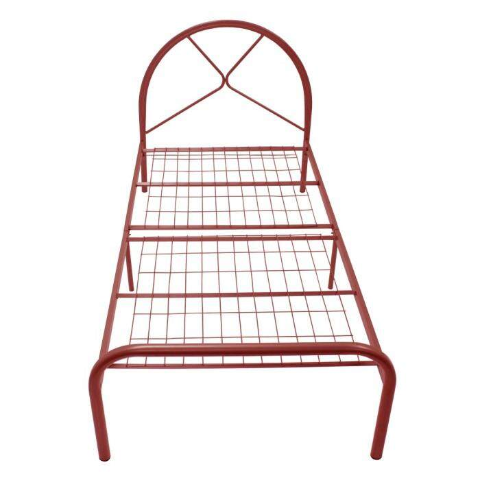 3v Powder Coat Metal Bed Frame By9001 - Single ( Random Mix Colour) By Decowood.