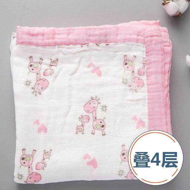 Baby Bamboo Fiber Gauze Scarf Newborn Baby Wrapped Baby Muslin Cotton Bath Towel Summer Thin Quilt