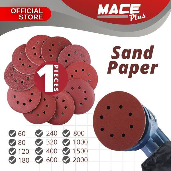 1 PIECE 5 inch 125mm Round Sandpaper Various Grades Self-adhesive Flocking Velcro Grit Sandpaper Sheets Woodworking