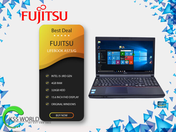 Fujitsu Lifebook A573/G Intel i5-3rd Gen / 4gb Ram / 320Gb HDD / 15.6 Inch FHD Display Windows Original Malaysia