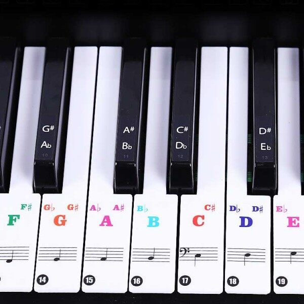 (Ready Stock) Amazthing 61/76/88 Keys Piano/Keyboards Removable Stickers for Beginner 钢琴键盘贴纸 Malaysia