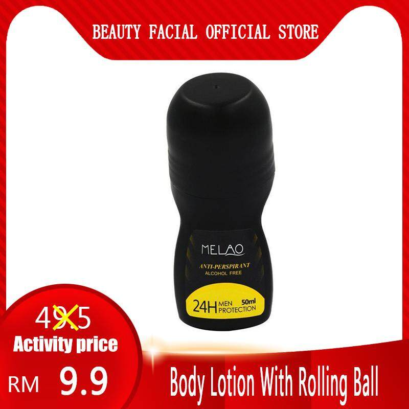 Body Lotion With Rolling Ball Antiperspirants Underarm Deodorant Roll on Bottle Men Smooth Dry Perfumes MELAO 50ml