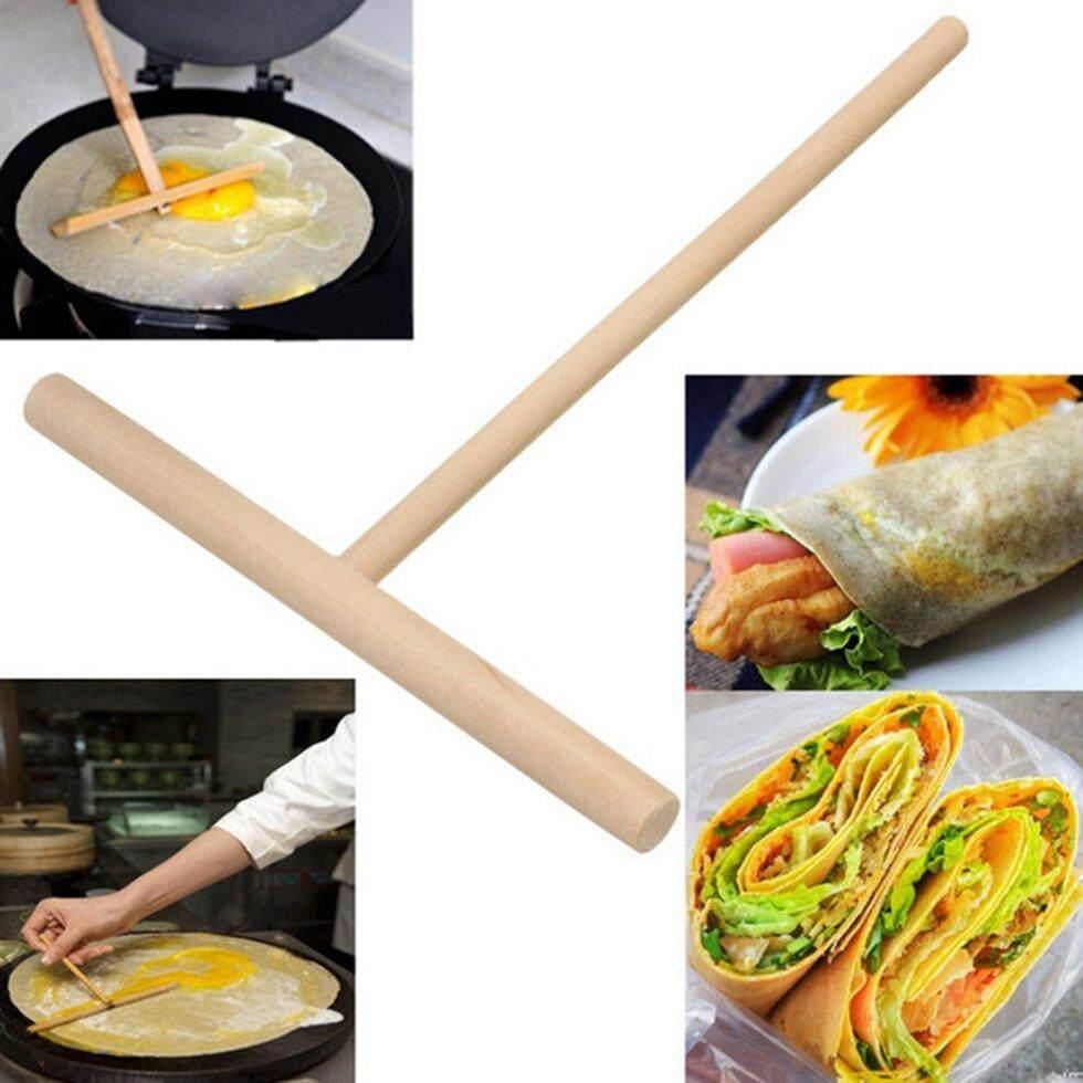 Goft Pancake Making Hazelnut Round Pancake Tool T-French Piece Scraper Diy Tool By Giftforyou.