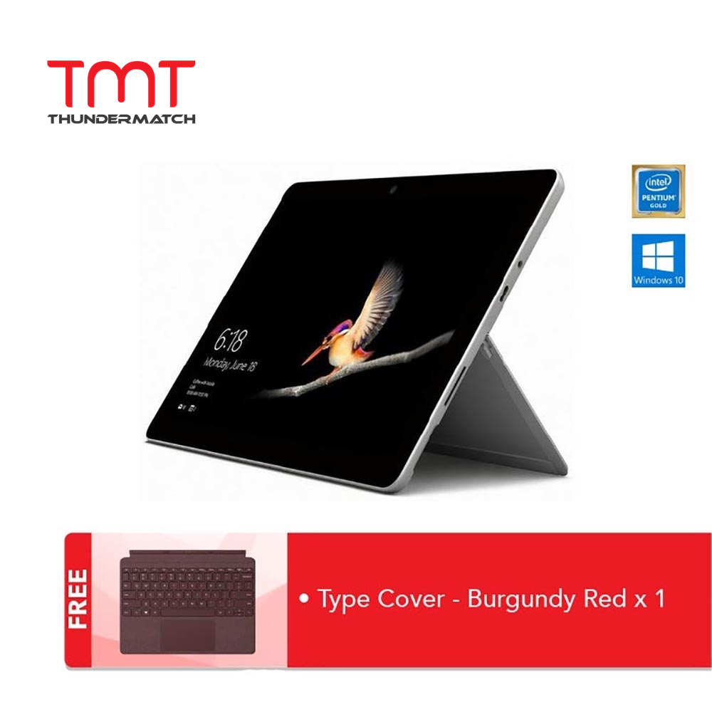[Pre-Order] Microsoft Surface GO ( Intel Pentium Gold 4415Y, 8GB Ram, 128GB SSD, 10 Touch, W10S ) ( MCZ-00012 ) + Type Cover [ETA @20TH December] Malaysia